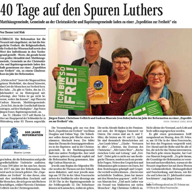 40 Tage auf den Spuren Luthers